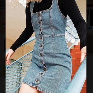 Urban Outfitters Dresses - Urban Outfitters Light Wash Denim Button Dress